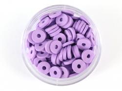 Acheter Boite de perles rondelles heishi 6 mm - mauve violet - 1,99€ en ligne sur La Petite Epicerie - Loisirs créatifs