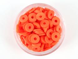 Acheter Boite de perles rondelles heishi 6 mm - rouge tomate - rouge orangé - 1,99€ en ligne sur La Petite Epicerie - Loisir...