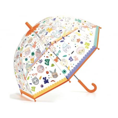 Acheter Parapluie Magique pour enfant - Faces - change de couleur sous l'eau - 11,99€ en ligne sur La Petite Epicerie - Lois...
