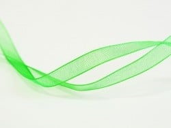 1 m de ruban organza 6 mm - vert pelouse  - 1