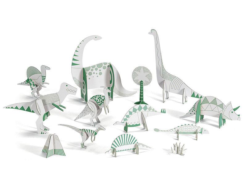 Acheter Dinosaures en carton à monter et colorier - 15,19€ en ligne sur La Petite Epicerie - Loisirs créatifs