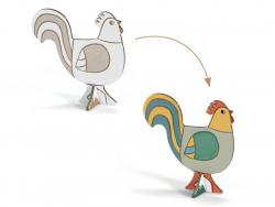Acheter Ferme en carton à monter et colorier - 9,99€ en ligne sur La Petite Epicerie - Loisirs créatifs