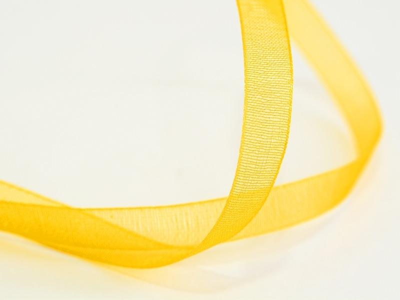 1 m of organza ribbon (6 mm) - Golden yellow  - 1