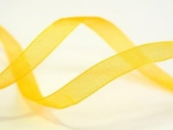 1 m de ruban organza 6 mm - jaune d'or