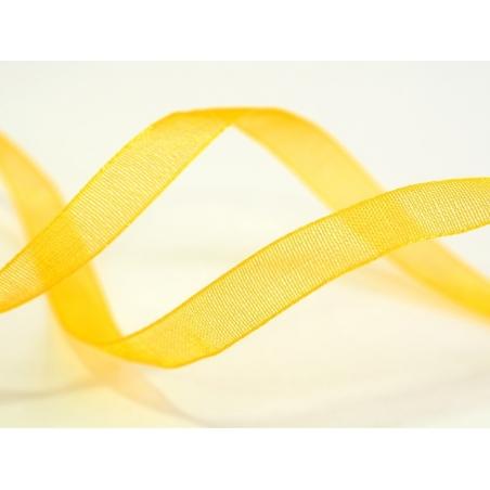 1 m of organza ribbon (6 mm) - Golden yellow  - 2