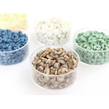 Acheter Boite de perles rondelles heishi 6 mm - marron naturel imitation pierre - 1,99€ en ligne sur La Petite Epicerie - Lo...
