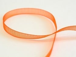 1 m of organza ribbon (6 mm) - Orange  - 1