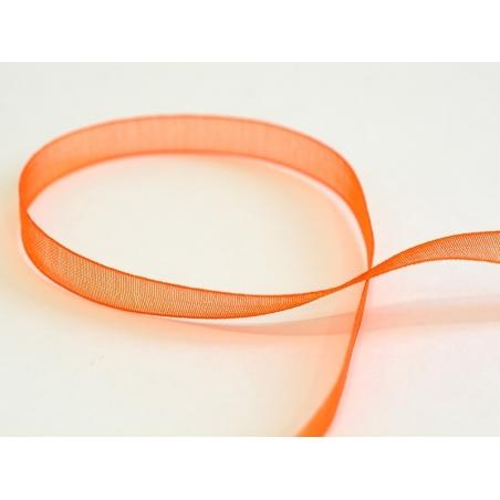 1 m of organza ribbon (6 mm) - Orange  - 1
