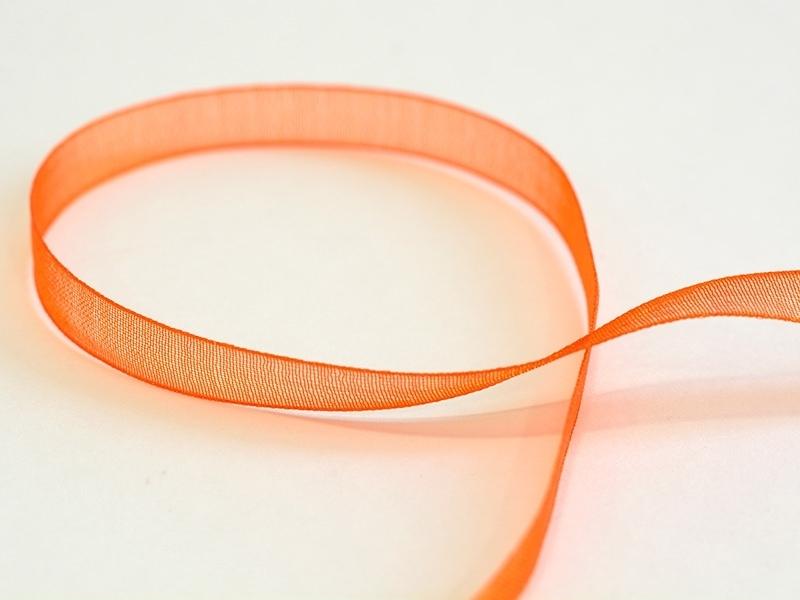 Acheter 1 m de ruban organza 6 mm - orange - 0,39€ en ligne sur La Petite Epicerie - 100% Loisirs créatifs