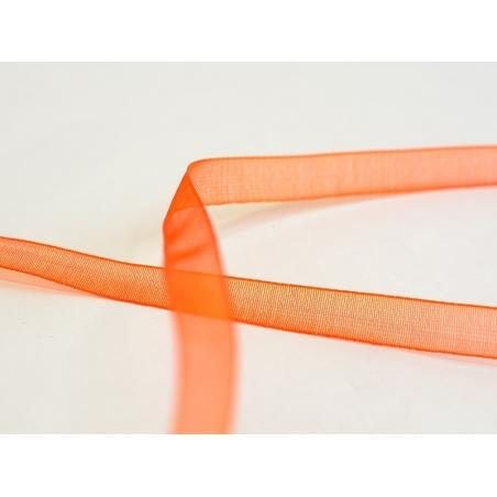 1 m of organza ribbon (6 mm) - Orange  - 2