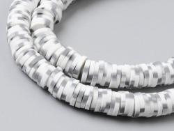 Acheter Boite de perles rondelles heishi 6 mm - blanc tacheté noir imitation pierre - 1,99€ en ligne sur La Petite Epicerie ...