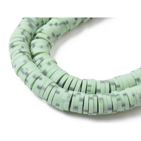 Acheter Boite de perles rondelles heishi 6 mm - vert nature imitation pierre - 1,99€ en ligne sur La Petite Epicerie - Loisi...