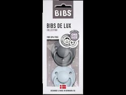 Acheter Lot de 2 tétines Bibs De Lux Taille unique - Gris fer & bleu layette - 13,99€ en ligne sur La Petite Epicerie - Lois...
