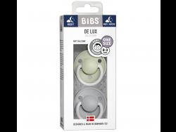 Acheter Lot de 2 tétines Bibs De Lux Taille unique - Vert amande phosphorescente & gris nuage phosphorescente - 13,99€ en li...