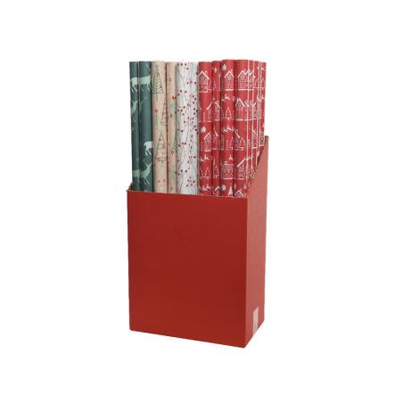 Acheter Rouleau de papier cadeau - motifs aléatoire vert / rouge / blanc - 1,99€ en ligne sur La Petite Epicerie - Loisirs c...