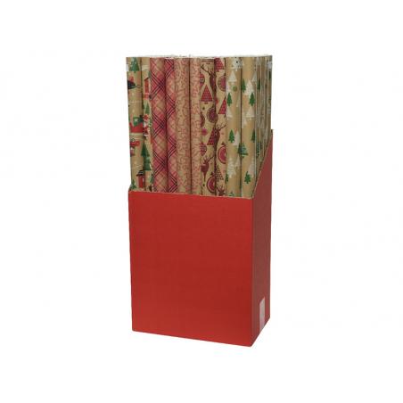 Acheter Rouleau de papier cadeau - motifs aléatoire kraft - 1,99€ en ligne sur La Petite Epicerie - Loisirs créatifs