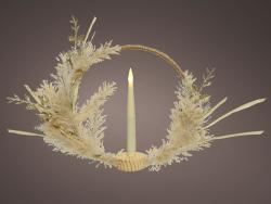 Acheter Couronne de Noël - corde et fleurs séchées - 35 cm - 16,99€ en ligne sur La Petite Epicerie - Loisirs créatifs