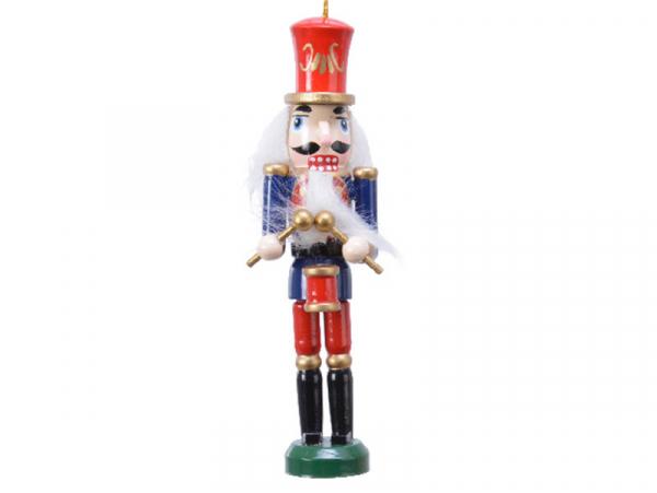 Acheter Casse noisette en bois à chapeau rouge - socle vert - 12,5 cm - 4,99€ en ligne sur La Petite Epicerie - Loisirs créa...