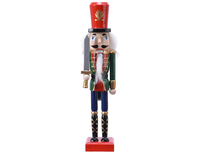 Acheter Casse noisette en bois à chapeau rouge - socle rouge - 25 cm - 12,99€ en ligne sur La Petite Epicerie - Loisirs créa...