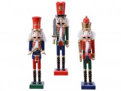 Acheter Casse noisette en bois à chapeau rouge - socle bleu - 25 cm - 12,99€ en ligne sur La Petite Epicerie - Loisirs créatifs