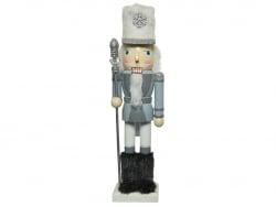 Acheter Casse-noisette en bois - argenté et blanc - moustache blanche - 25 cm - 12,99€ en ligne sur La Petite Epicerie - Loi...