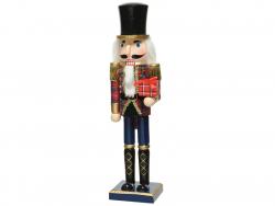 Acheter Casse-noisette en bois - rouge et bleu - 38 cm - 24,99€ en ligne sur La Petite Epicerie - Loisirs créatifs