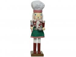 Acheter Casse-noisette en bois qui fait de la patisserie -rouge et vert - 38 cm - 24,99€ en ligne sur La Petite Epicerie - L...