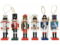 Acheter Assortiment de 6 décoration de Noël - Casse noisette en bois - 12,5 cm - 22,99€ en ligne sur La Petite Epicerie - Lo...