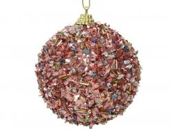 Acheter Boule de Noël - effet pailletté - 8 cm - 3,49€ en ligne sur La Petite Epicerie - Loisirs créatifs