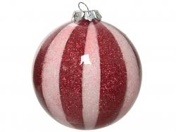 Acheter Boule de Noël - rayures rouges effet bonbon - 8 cm - 2,49€ en ligne sur La Petite Epicerie - Loisirs créatifs