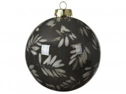 Acheter Boule de Noël - Marron foncé - décoration feuilles - 8 cm - 2,49€ en ligne sur La Petite Epicerie - Loisirs créatifs