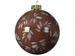 Acheter Boule de Noël - rouge foncé - décoration feuilles - 8 cm - 2,49€ en ligne sur La Petite Epicerie - Loisirs créatifs
