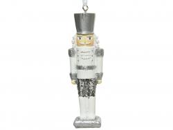 Acheter Décoration de Noël - casse noisette - blanc et argent - 10,8 cm - 4,49€ en ligne sur La Petite Epicerie - Loisirs cr...