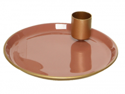 Acheter Bougeoir en fer rond - Cuivre - 7,99€ en ligne sur La Petite Epicerie - Loisirs créatifs