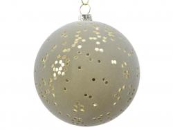 Acheter Boule de Noël floquée verte - éclats paillettés or - 2,99€ en ligne sur La Petite Epicerie - Loisirs créatifs