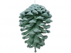 Acheter Décoration de Noël - pomme de pin naturelle - peinture et paillettes - vert d'eau - 3,99€ en ligne sur La Petite Epi...
