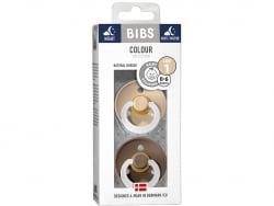 Acheter Lot de 2 tétines Bibs Colour T1 - Chene phosphorescente & vanille phosphorescente - 9,99€ en ligne sur La Petite Epi...