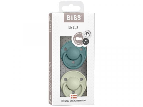 Acheter Lot de 2 tétines Bibs De Lux Taille unique - Bleu étang & vert sauge - 13,99€ en ligne sur La Petite Epicerie - Lois...
