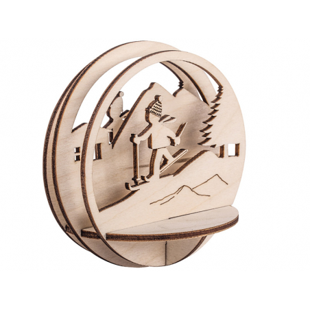 Acheter Pièces en bois à insérer dans une boule de Noël - Skieur - 9,5cm - 3,69€ en ligne sur La Petite Epicerie - Loisirs c...