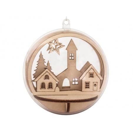 Acheter Pièces en bois à insérer dans une boule de Noël - Maisons et sapins - 7,5cm - 3,69€ en ligne sur La Petite Epicerie ...