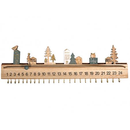 Acheter Calendrier de l'avent en bois - 16,25€ en ligne sur La Petite Epicerie - Loisirs créatifs