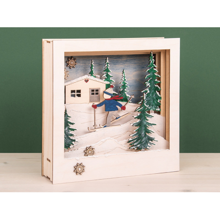 Acheter Kit bois Cadre à motif 3D, FSCMixCred. Nature , skieur - 18,79€ en ligne sur La Petite Epicerie - Loisirs créatifs