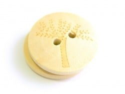 Wooden button (20 mm) - Tree