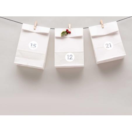 Acheter Kit de sachets en papier pour le calendrier de l'Avent - 7,99€ en ligne sur La Petite Epicerie - Loisirs créatifs