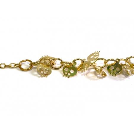 Acheter Collier têtes de mort - doré - 4,99€ en ligne sur La Petite Epicerie - 100% Loisirs créatifs
