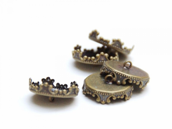 Acheter 1 pendentif pour bulle ouverture 14 mm - couleur bronze - 1,29€ en ligne sur La Petite Epicerie - Loisirs créatifs