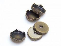 1 pendentif pour bulle  ouverture 14 mm - couleur bronze