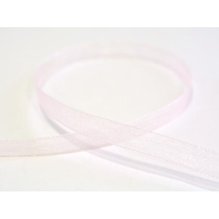 1 m de ruban organza 6 mm - rose pâle  - 1