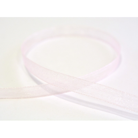 1 m of organza ribbon (6 mm) - Pale pink  - 1