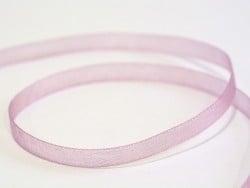 1 m de ruban organza 6 mm - vieux rose